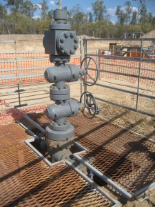 Coal Seam Gas Well Head